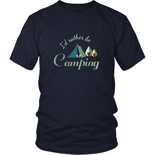 Camping T-shirt - I'd rather be camping