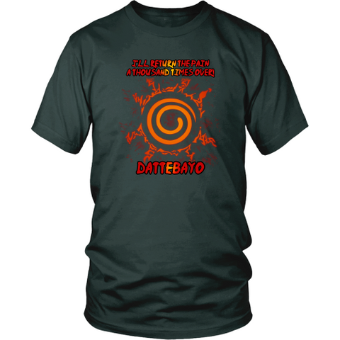Anime T-shirt - Naruto - I'll return the pain a thousand times over!