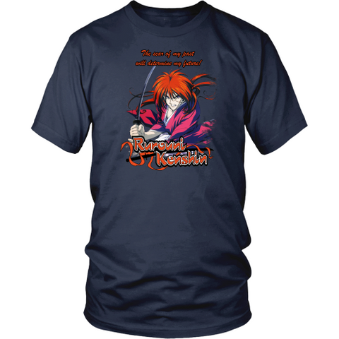 Anime T-shirt - Rurouini Kenshin - The scar of my past will determine my future