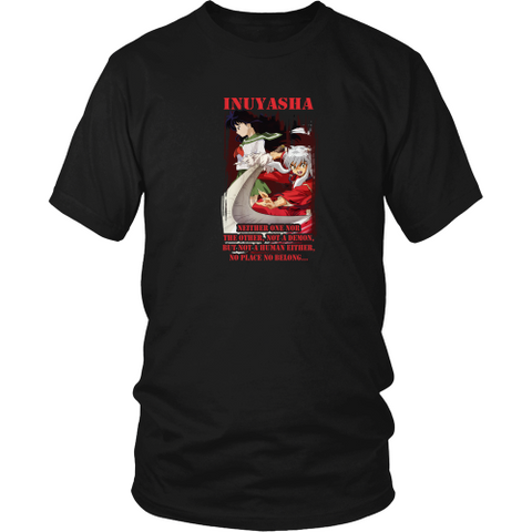 Anime T-shirt - Inuyasha - Neither one nor the other, not a demon