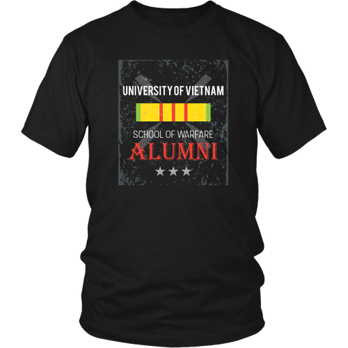 Vietnam Veteran T-shirt - University of Vietnam School of Warfare Alumni