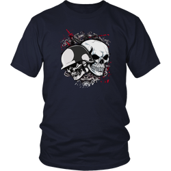 Skull T-shirt - Skull with helmet