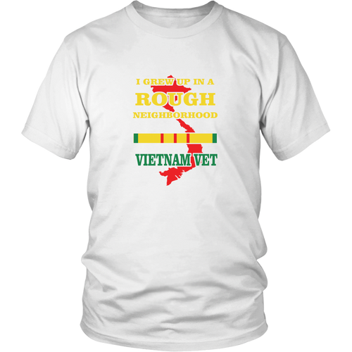 Veterans T-shirt - I grew up in a rough neighborhood