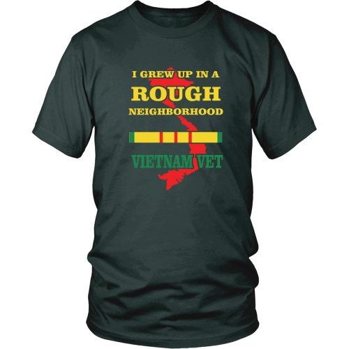 I grew up in a rough neighborhood - District Unisex Shirt