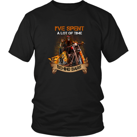 Motorcycles T-shirt - I've spent a lot of time behind bars