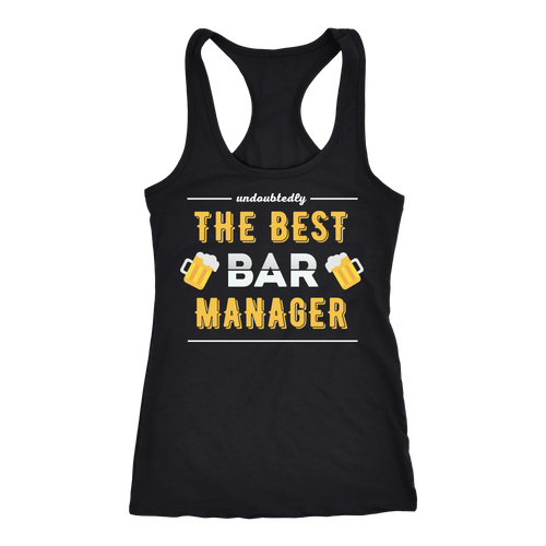 Bar Manager T-shirt, hoodie and tank top. Bar Manager funny gift idea.