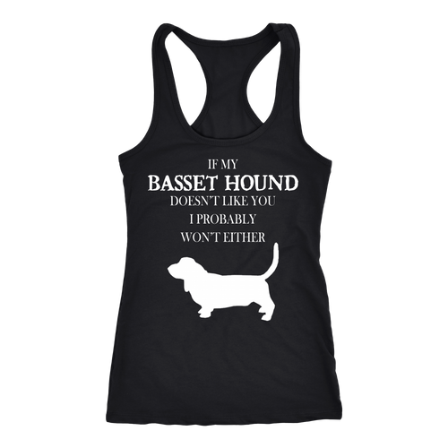 Basset hound T-shirt, hoodie and tank top. Basset hound funny gift idea.