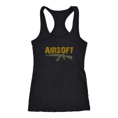 Airsoft T-shirt, hoodie and tank top. Airsoft funny gift idea.