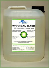 Benz Biocidal Wash DDAC softwash biocide for softwashing patios, paths, drives, roofs, wall render, tarmac, tennis courts, play areas