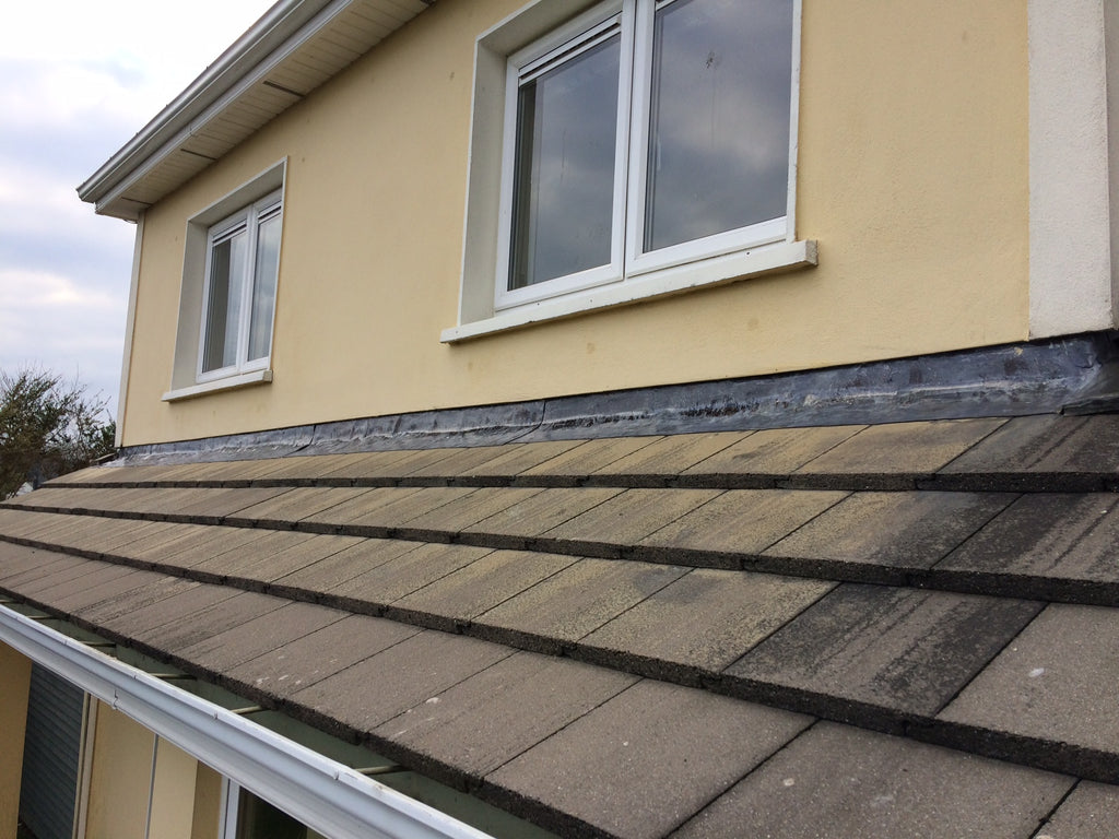 Benz OxyCleanze removes oxidation from lead roof flashing