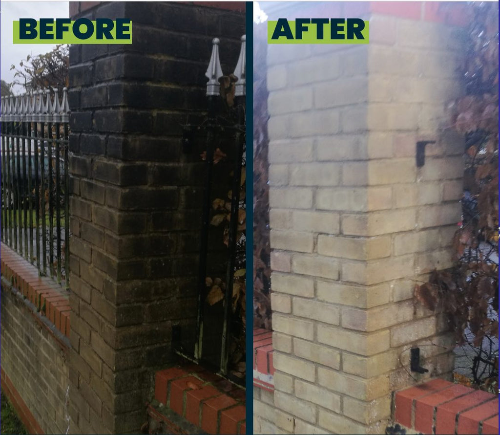 Benz Tornado Cleanze, brickwork softwash cleaning treatment
