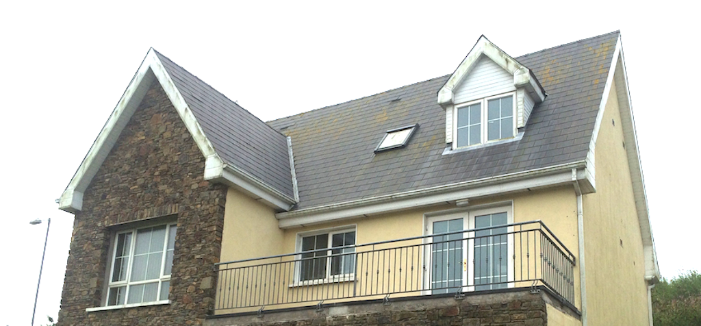 After soft washing a roof with Benz Pro-Soft Wash biocides