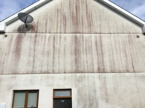 Soft washing wall render