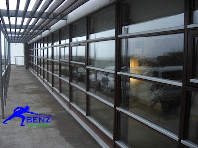 Window cleaning with water fed poles (wfp) and de-ionised water