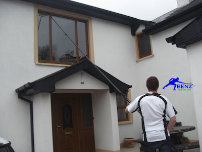 Window cleaning with water fed poles (wfp) & de-ionised water