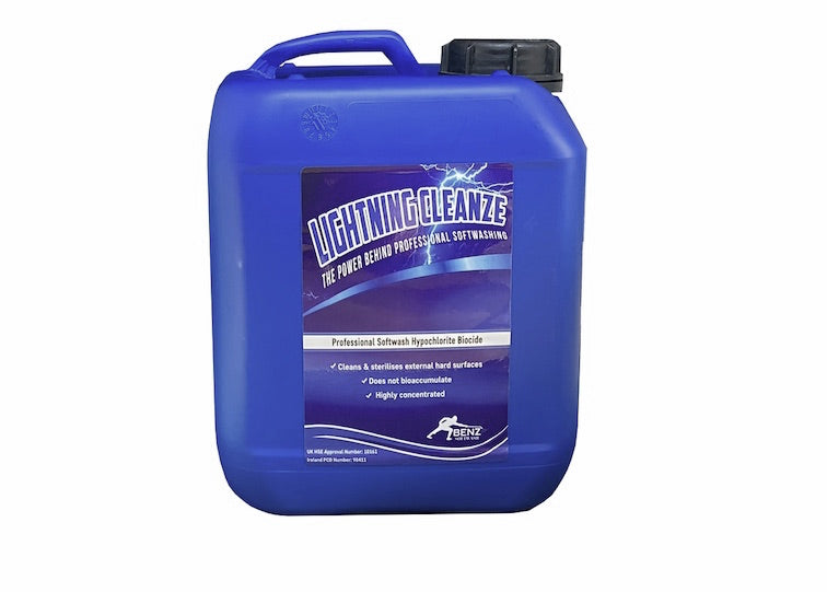 LIGHTNING CLEANZE – The softwash biocide when you want rapid results