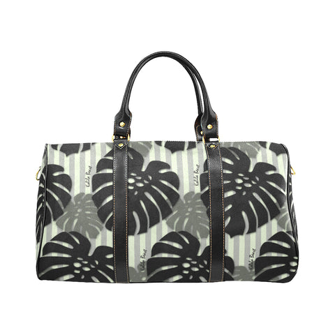 Mint Monstera Travel Bag - SMALL