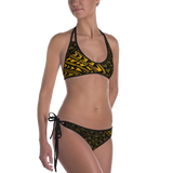 Tatau Swimsuit Bikini - Black & Yellow