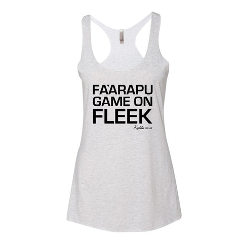 Fa'arapu Game on Fleek - Women's Tank Top (black text)
