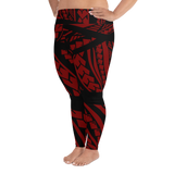 Tribal - Maroon Plus Size Leggings