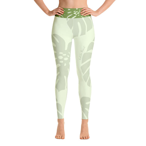 Yoga Leggings - Monstera Leaf