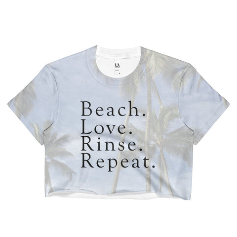 Beach. Love. Rinse. Repeat. - Ladies Crop Top