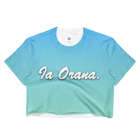 Ia Orana. - Ladies Crop Top