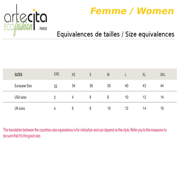 Equivalence Tailles Vêtements Femmes / Women Clothes Size Equivalence