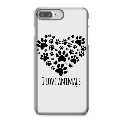 Coque téléphone - I love animals - iPhone ou Samsung