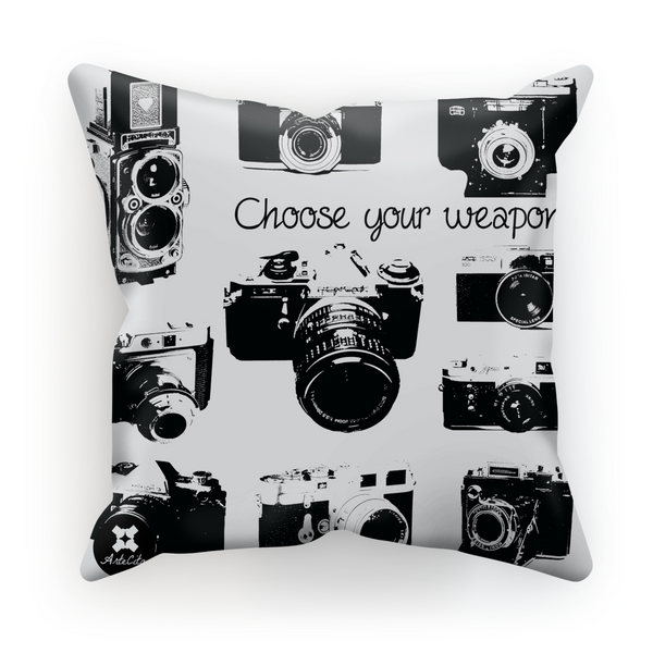 Coussin - Choose your weapon - Lin, Coton ou Velours - ArteCita Positive Lifestyle Mode Bio et Objets de déco