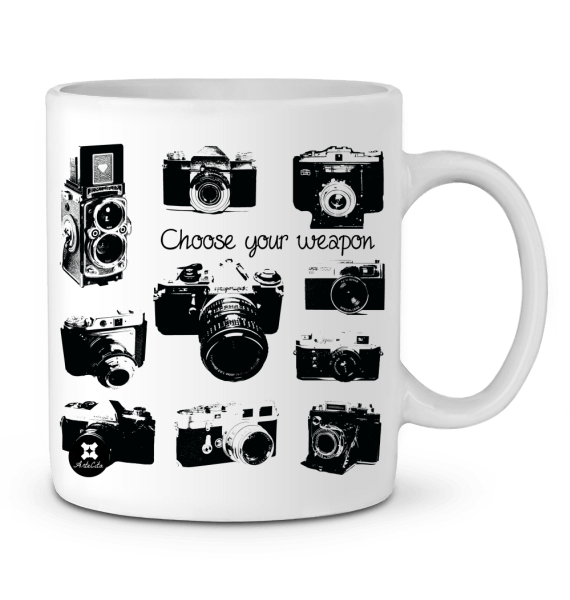 Mug Céramique Premium - Appareils Photo Vintage - Choose your weapon - ArteCita Positive Lifestyle Mode Bio et Objets de déco