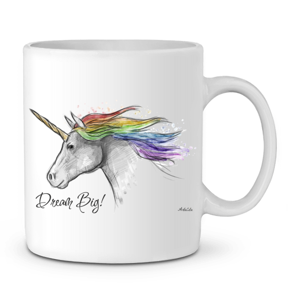 Mug Céramique Premium - Unicorn Dream Big - ArteCita Positive Lifestyle Mode Bio et Objets de déco