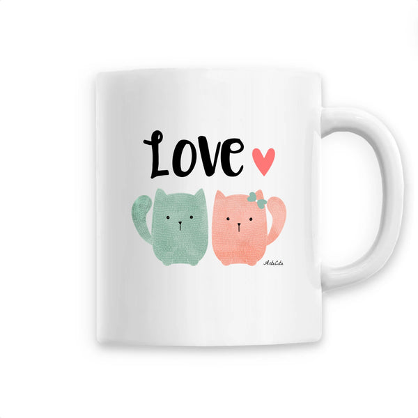 Mug - Chats in love - Céramique Premium