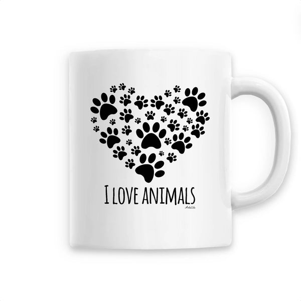 Mug - I love animals - Céramique Premium