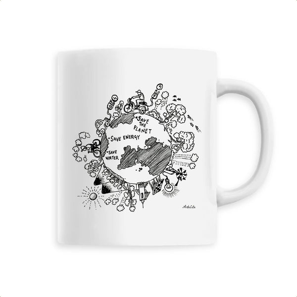 Mug - Save the Planet - Céramique Premium - 6 Coloris