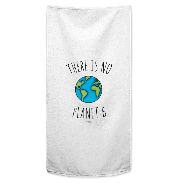 Serviette / Drap de bain imprimé - There is no planet B - ArteCita Positive Lifestyle Mode Bio et Objets de déco