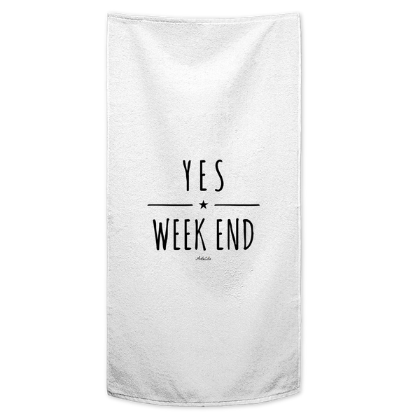 Serviette / Drap de bain imprimé - Yes Week End - ArteCita Positive Lifestyle Mode Bio et Objets de déco