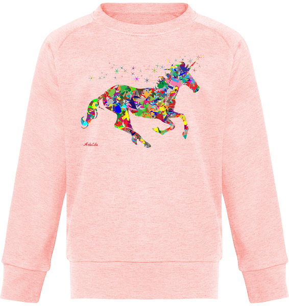 Sweat Bio Enfants / Organic Sweater Kids - Licorne Magique Unicorn - ArteCita Positive Lifestyle Mode Bio et Objets de déco