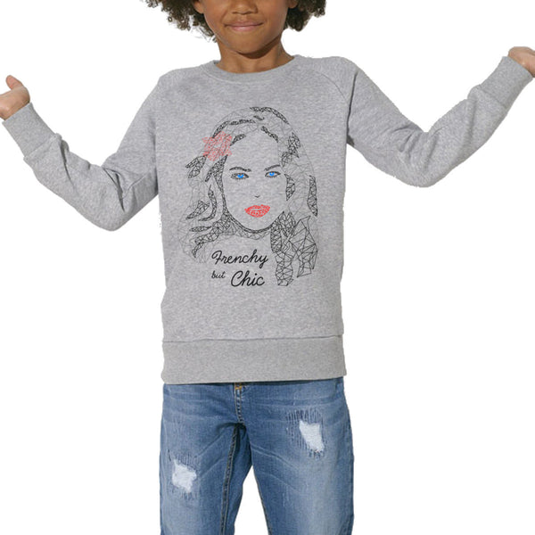 Sweat Imprimé Bio Enfants, Organic Graphic Sweater Kids - Frenchy but chic - ArteCita Positive Lifestyle Mode Bio et Objets de déco
