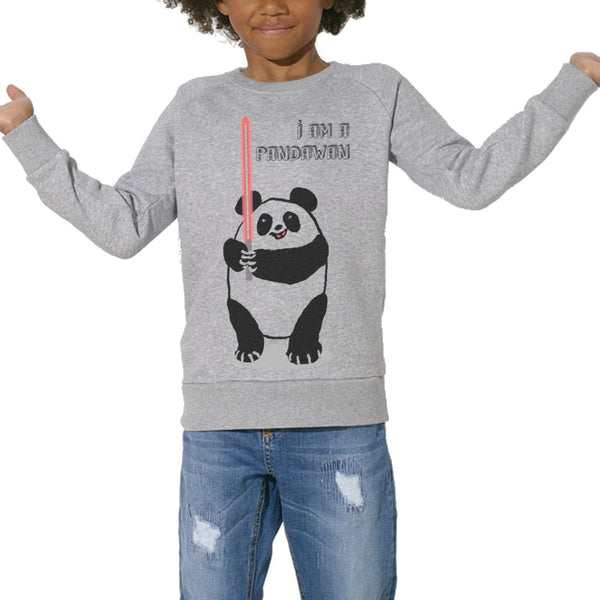 Sweat Imprimé Bio Enfants, Organic Graphic Sweater Kids - I'm a Pandawan - ArteCita Positive Lifestyle Mode Bio et Objets de déco
