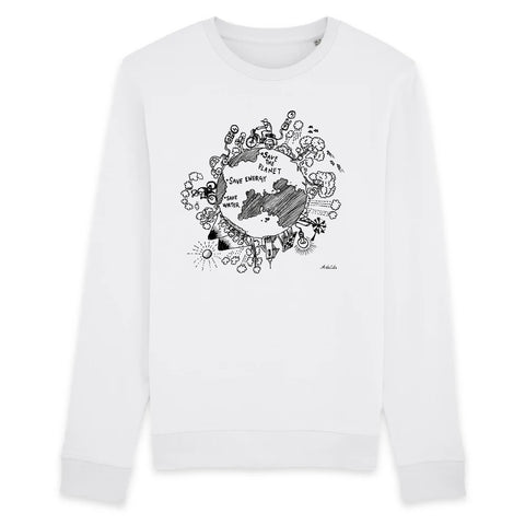 Sweat - Save the Planet - Unisexe - Coton Bio - 2 Coloris