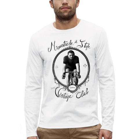 T-shirt Imprimé Bio ML / Organic Graphic Tee-shirt LS - Vintage Bicycle - ArteCita Positive Lifestyle Mode Bio et Objets de déco