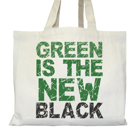 Tote bag Bio Urbain Cartable avec Poches intérieures Graphic Organic Street Tote Bag Internal pockets - Green Is The New Black - ArteCita Positive Lifestyle Mode Bio et Objets de déco