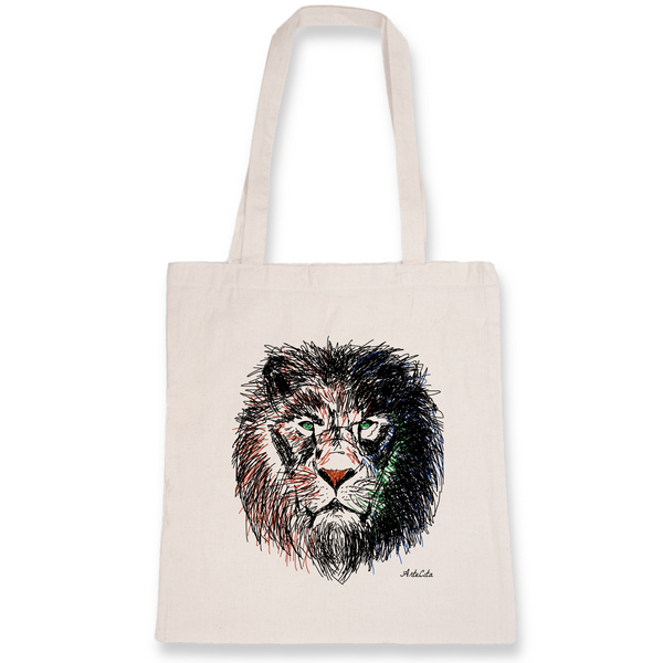Tote Bag Bio Imprimé - Cecil the Lion - ArteCita Positive Lifestyle Mode Bio et Objets de déco