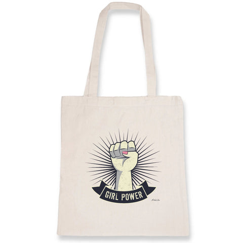 Tote Bag - Girl Power - Coton Bio