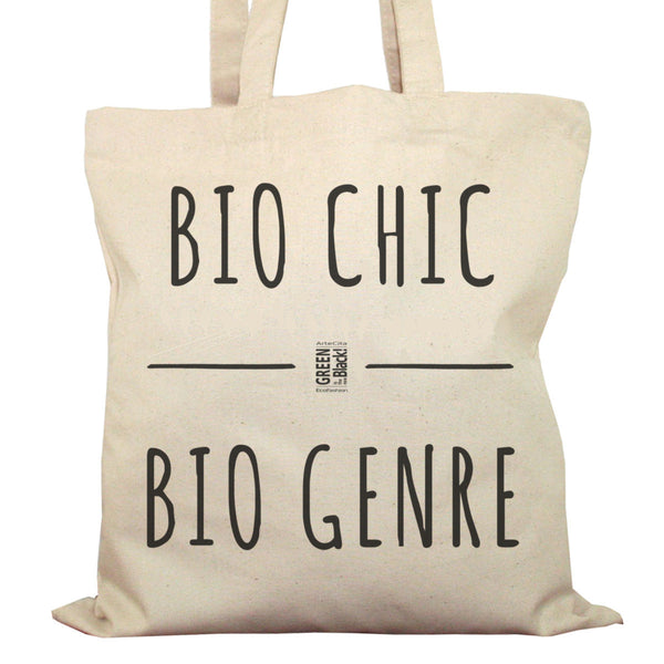 Tote Bag Imprimé Bio en Toile / Raw Canvas Graphic Totebag - Bio Chic Bio Genre - ArteCita Positive Lifestyle Mode Bio et Objets de déco