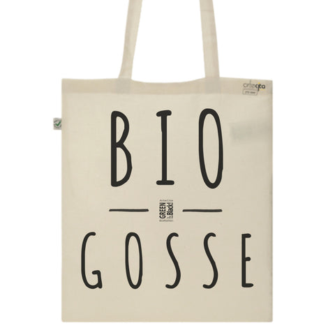 Tote Bag Imprimé Bio Toile Ecru / Raw Canvas Graphic Totebag - BIO Gosse - ArteCita Positive Lifestyle Mode Bio et Objets de déco