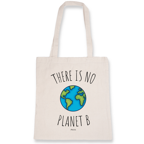 Tote Bag Bio Imprimé - There is no planet B - ArteCita Positive Lifestyle Mode Bio et Objets de déco