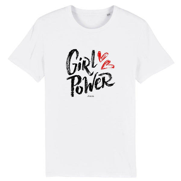 Tshirt - Girl Power Love - Femme - Coton Bio - 5 Coloris
