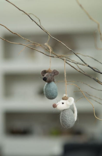 Forest Friends Hanging Mini White/taupe